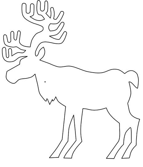 Схема вытыканки объемная олень